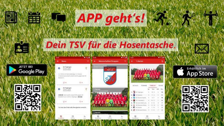 Jetzt TSV Vereinsapp herunterladen